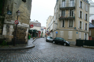 empty montmartre at dawn
