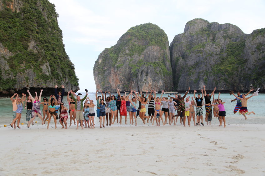 One Night on Maya Bay Beach on Koh Phi Phi Le